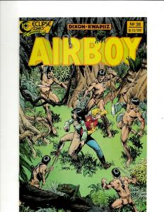 Lot of 12 Airboy Eclipse Comics Comic Books #38-48, Airboy Meets Prowler #1 JF21