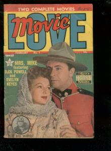 MOVIE LOVE #1 1950-FAMOUS FUNNIES-BIG WHEEL-INDY 500  G/VG