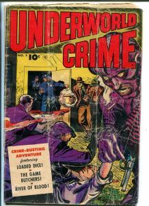 UNDERWORLD  CRIME #5 1953-LOADED DICE-SMUGGLING-PRE-CODE-OPIUM-VIOLENCE-fr