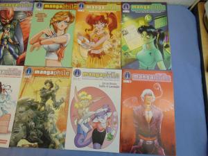 Mangaphile Radio Comix English Manga Fan Magazine Comic Books 1-9 & 16 MINT