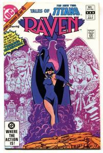 TALES OF THE NEW TEEN TITANS #2-RAVEN origin comic book  DC