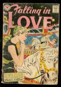 FALLING IN LOVE #21 1958-DC ROMANCE  MERRY-GO-ROUND CVR FR/G