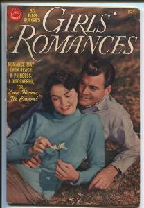 GIRLS' ROMANCES #6 1950-DC-PHOTO COVER-INCREDIBLE GOLDEN AGE ART-vg