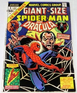 Giant Size Spider-Man #1 (7.0) 1974 Dracula Appearance Bronze Age Marvel ID#42A