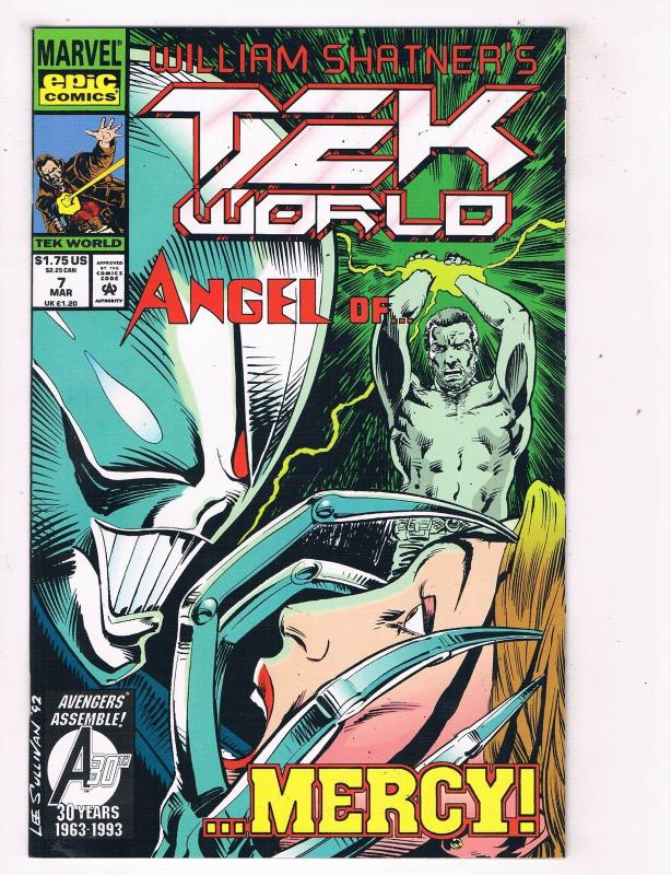 Tekworld (1992) #7 Marvel Comic Book created by William Shatner HH4 AD38