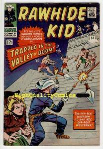 RAWHIDE KID #51, VG+, Aztec Warriors, Lieber, Western,Guns, Valley of Doom