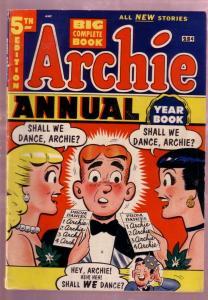 ARCHIE ANNUAL #5 1953-GIANT-BETTY-VERONICA-JUGHEAD-REGG FN