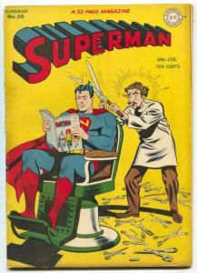 Superman #38 1946-DC-Batman Comics-atomic bomb-barber chair-G