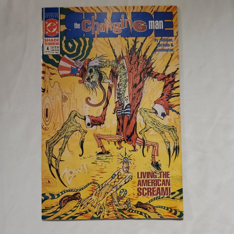 Shade the Changing Man 4 Near Mint- Painted cover by Brendan McCarthy