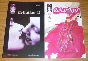Evilution #1-2 FN complete series - violet jessup ent - horror comics set lot