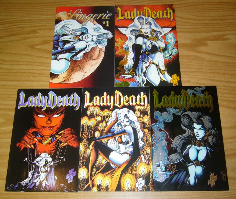 Lady Death II: Between Heaven & Hell #1-4 VF/NM complete series + lingerie
