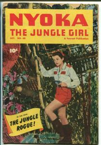 NYOKA THE JUNGLE GIRL #60 1951-FAWCETT-PHOTO COVER-GOOD GIRL ART-good