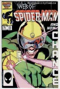 WEB of SPIDER-MAN #15, NM, Black Fox, Kyle Baker, 1985, Beachum, more in store