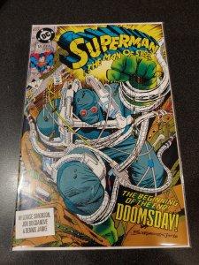 SUPERMAN, MAN OF STEEL #18, 1ST APP OF DOOMSDAY, DC COMICS