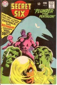 SECRET SIX 2 F-VF  July 1968 COMICS BOOK