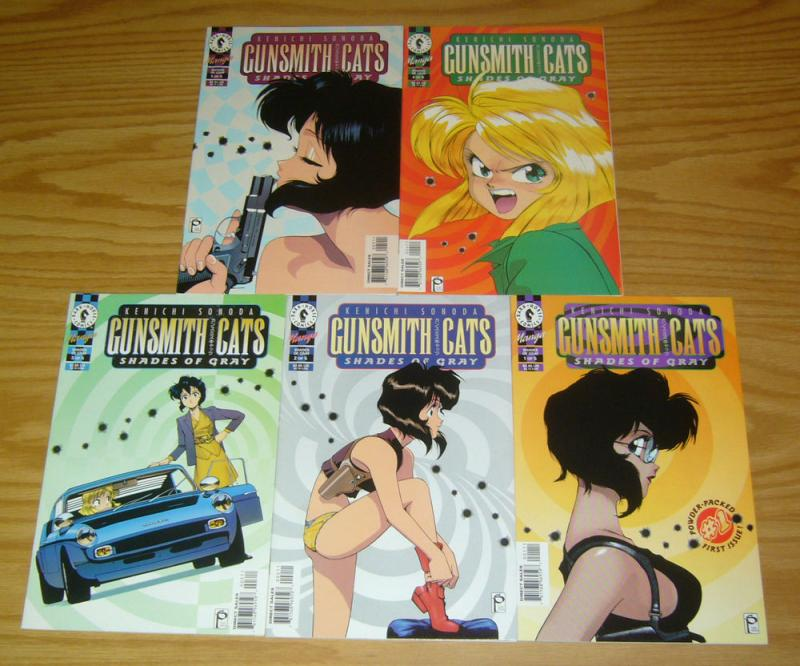 Gunsmith Cats: Shades of Gray #1-5 VF/NM complete series - studio proteus manga