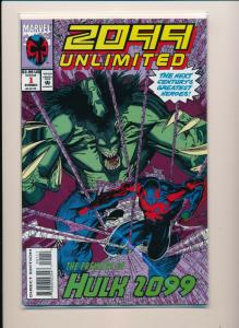 2099 UNLIMITED #1 - Marvel Comics Hulk 2099 Premiere 1993 ~ NM (PF354)