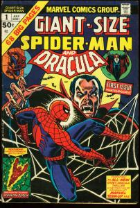 GIANT SIZE SPIDER-MAN #1-DRACULA-MARVEL VG