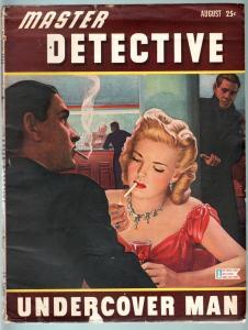 MASTER DETECTIVE AUG 1944-VG-SPICY BABE ON CVR-PULP-TRUE CRIME VG