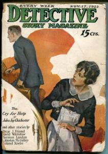 DETECTIVE STORY 11/17/1923-MYSTERY & CRIME PULP-THUBWAY THAM-McCULLEY-fr