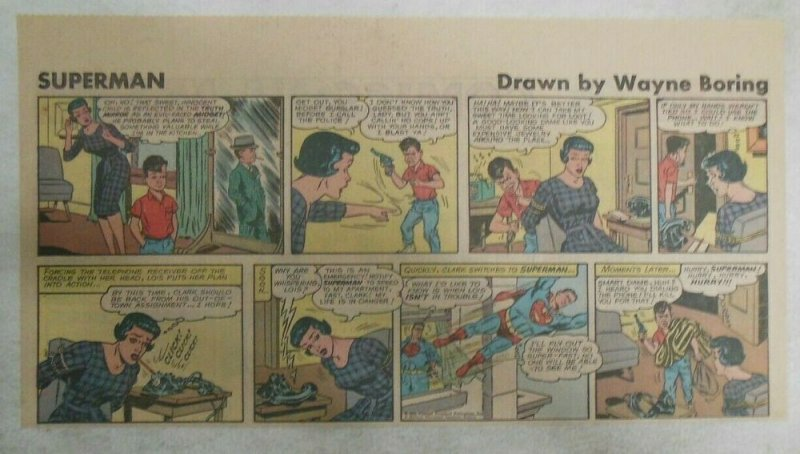 Superman Sunday Page #1150 by Wayne Boring from 10/29/1961 Size ~7.5 x 15 inches