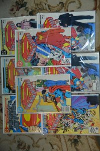 The Man of Steel Lot of 8 books, all VF+