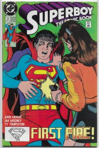 Superboy (vol. 2, 1990) #2 VG (The Comic Book) Maguire cover, TV show