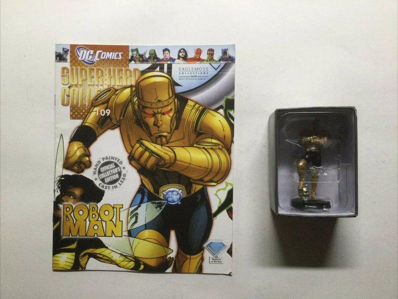 Robot Man Super Hero Collection 109 Lead Figure and Magazine Dc Eaglemoss