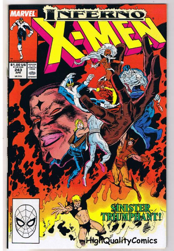 X-MEN #243, VF+, Wolverine, Chris Claremont, Uncanny, more IM in store