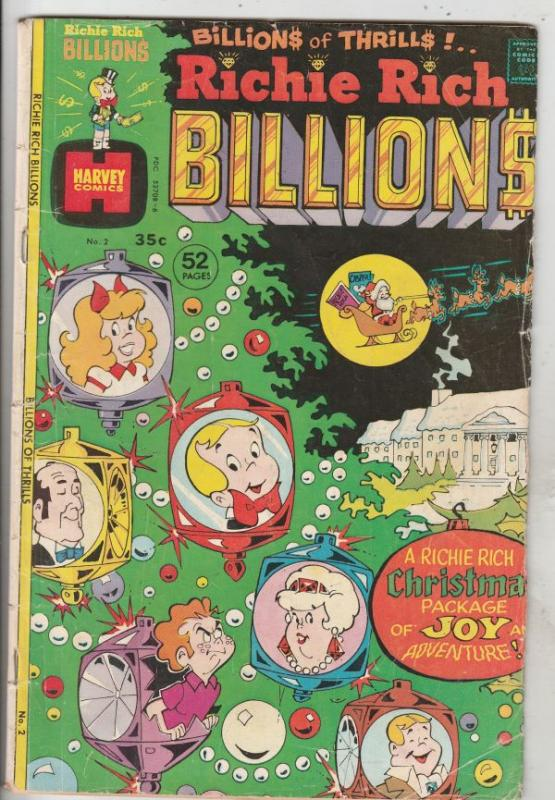 Richie Rich Billions #2 (Feb-75) VG Affordable-Grade Richie Rich
