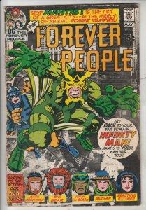 Forever People #2 (Apr-71) FN- Mid-Grade Big Bear, Beautiful Dreamer, Serifin...