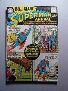 SUPERMAN EIGHTY PAGE GIANT ANNUAL 1 Fine Fine+ Supergir