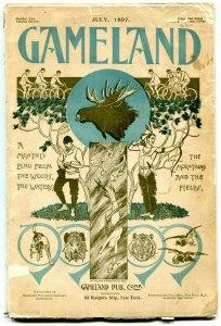 Gameland Pulp July 1897- Mermaid cover- rare hunting & fishing G/VG