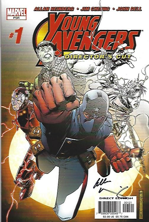 YOUNG AVENGERS #1 DIRECTORS CUT SIGHNED HEINBERG $30.00