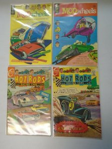 Silver + Bronze age Car Comics lot 4 different avg 5.0 VG FN (1964-71)