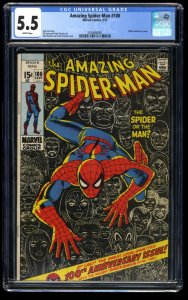 Amazing Spider-Man #100 CGC FN- 5.5 White Pages