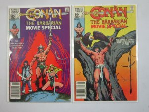 Conan the Barbarian Movie Special set #1+2 8.0 VF (1982)