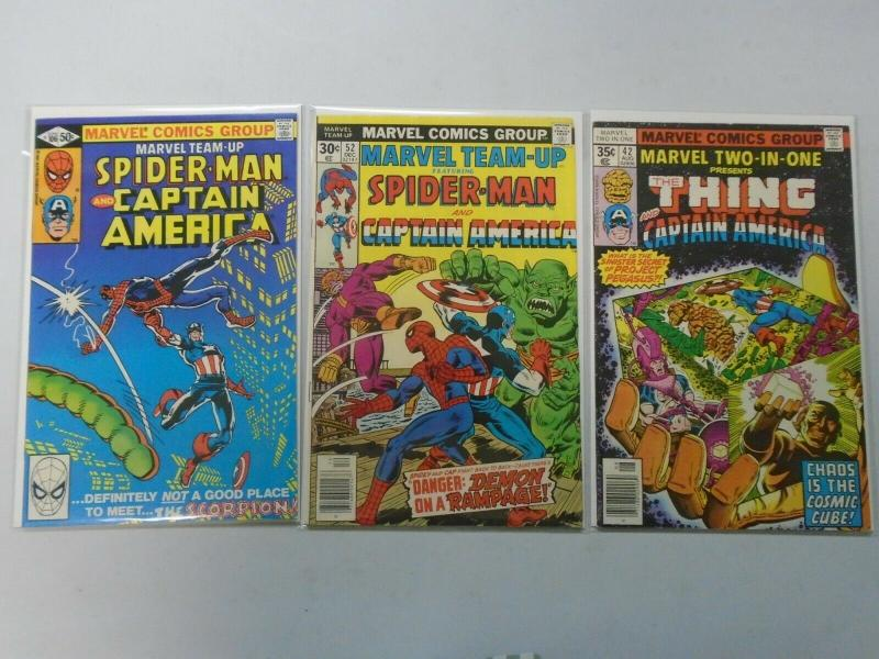 Marvel Team-Up 3 different issues featuring Captain America avg 8.0/VF