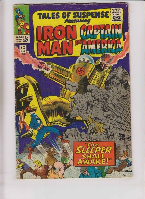 Tales of Suspense #72 VG- iron man - captain america - stan lee - jack kirby