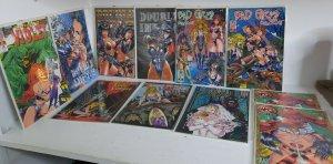 11X DOUBLE IMPACT bad girls Hari Kari lady vampire Violet comics sexy boarded