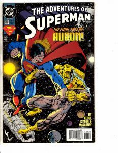 8 Adventures Of Superman DC Comic Books # 509 510 511 512 513 514 515 516 J221