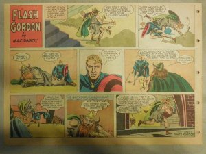 Flash Gordon Sunday Page by Mac Raboy from 8/12/1956 Half Page Size