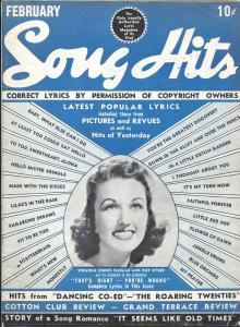 Song Hits 2/1940-Charlton-Virginia Simms-Mary Martin-song lyrics-VG