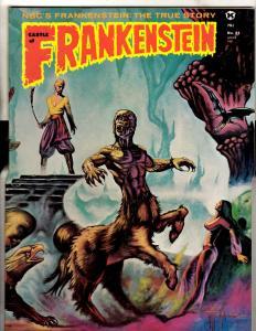 Castle Of Frankenstein # 21 VF Horror Comic Book Magazine Exorcist 1974 TD14