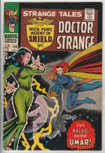 Strange Tales #150 (Nov-66) FN/VF+ High-Grade Nick Fury, Dr. Strange