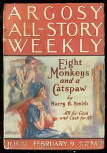 ARGOSY FEB 9 1924-TARZAN & ANT MEN-EDGAR RICE BURROUGHS VG