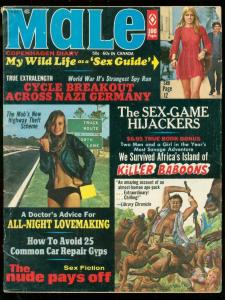 MALE MAGAZINE APRIL 1971-KILLER BABOONS-MOTORCYCLES VG