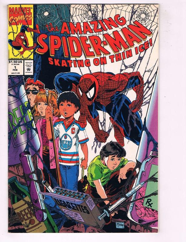 Amazing Spider-Man Skating On Thin Ice # 1 FN/VF Marvel Comic Book McFarlane J62