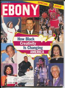 Ebony 8/1991-Black Creativity Changes America-Michael Jackson-FN