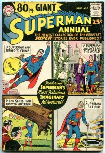 80 PAGE GIANT #1 1964 SUPERMAN ANNUAL  SUPERGIRL ORIGIN VG